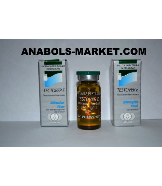 TESTOVER E (Testosterone Enanthate) 250mg/ml 10ml Vial